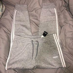 NWT Adidas 3 stripe jogger sweatpants